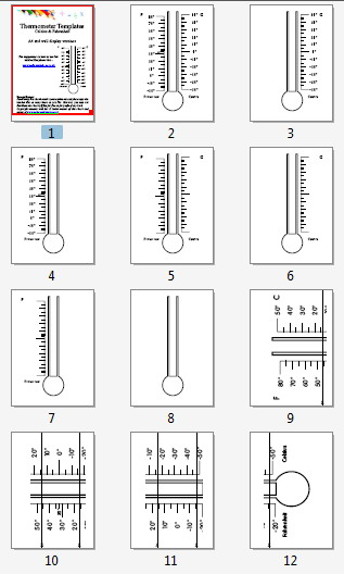 Printable Number Lines Pack